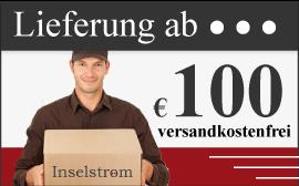Kostenlose Lieferung ab 100 Euro Bestellsumme